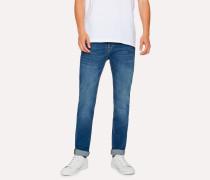Slim-Fit 12oz 'Authentic Comfort Stretch' Antique-Wash Jeans