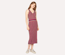 Knitted Stripe Wool-Silk Dress