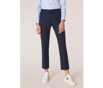 Slim-Fit Navy Wool-Hopsack Trousers