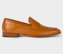 Tan Leather 'Glynn' Penny Loafers