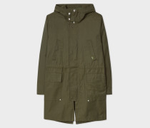 Dark Green 2-In-1 Cotton-Blend Parka