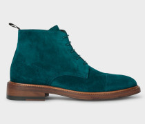 Turquoise Suede 'Jarman' Boots