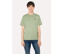 Sage Green Organic-Cotton Zebra Logo T-Shirt