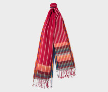 Red Stripe Scarf With 'Artist Stripe' Details