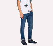 Tapered-Fit 12.5oz 'Rigid Western Twill' Dark-Wash Jeans