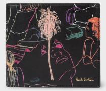 'Beach Sketch' Print Billfold Leather Wallet