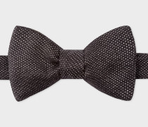 Black And Metallic Silk Bow Tie
