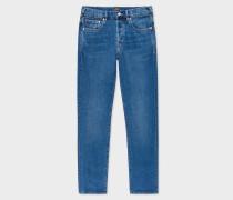 Standard-Fit 12.5oz 'Rigid Western Twill' Mid-Wash Jeans
