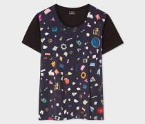 Navy 'Terrazzo' Print T-Shirt