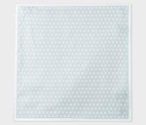 Light Grey Polka Dot Silk Pocket Square