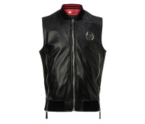"Leather Vest Short ""My kind"""