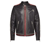 "Leather Moto Jacket ""The ghouls"""