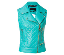 "Leather Vest Short ""Higon"""