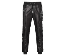 """leather trousers """"edged"""""""