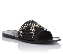 "Sandals Flat ""exagonal python"""