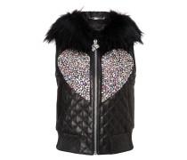 """Leather Vest Short """"Shiny Love"""""""