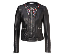 "Leather Jacket ""Shiny Skull"""