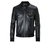 "Leather Bomber ""Tatoo"""