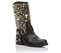 "Boots Flat High ""Strong woman"""