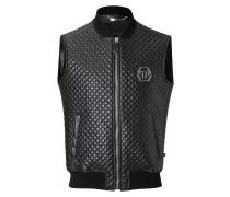 "Leather Vest Short ""Padded"""