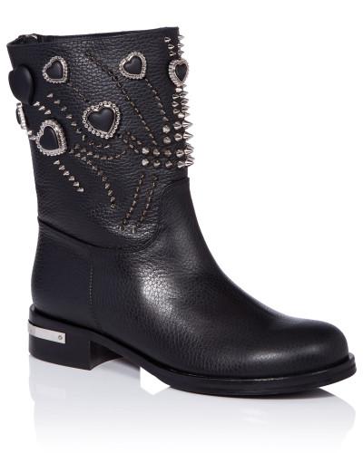 Philipp Plein Damen Boots Lo-Heels Low
