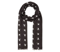 """Long Scarf """"Cross and skull"""""""