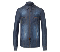 "Denim Shirt Ls ""Trouble"""