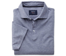 Poloshirt in Blauen und Weißen Streifen