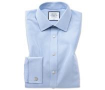 Bügelfreies Slim Fit Hemd in Himmelblau