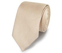 Klassische Krawatte Seide Einfarbig in Champagner