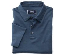 Jersey-Polohemd mit Streifen in Marineblau
