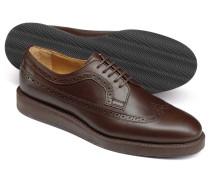 Derby-Schuhe in Schokoladenbraun