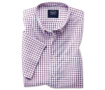 Vorgewaschenes kurzärmeliges Hemd Classic Fit