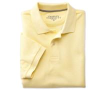 Piqué-Poloshirt in Hellgelb