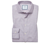 Bügelfreies Slim Fit Hemd aus Strukturgewebe