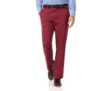 Classic Fit Chinohose ohne Bundfalte in Rot