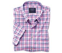 Slim Fit Kurzarmhemd aus Popeline