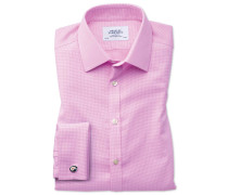 Extra Slim Fit Hemd in Rosa mit gewebten Quadraten