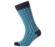 Socken in Blau mit Schatten-Punkten