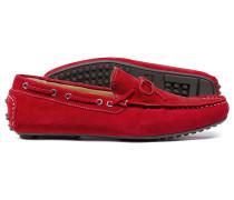 Autofahrer-Slipper in Rot