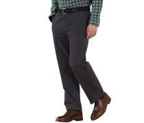 Classic Fit Chino Hose ohne Bundfalte in Grau