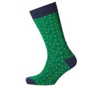 Socken mit bunten Punkten in Grün