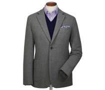 Slim Fit Blazer aus Flanell in Grau