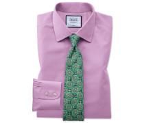 Classic Fit Popelinehemd in Violett