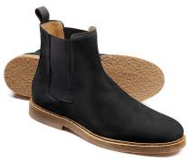 Chelsea Stiefel aus Nubukleder in Schwarz