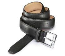 Perforierter Ledergürtel in Schwarz