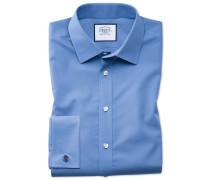 Classic Fit Popeline-Hemd in Blau