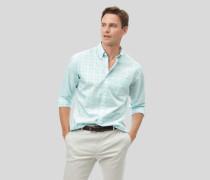 Vorgewaschenes Popeline-Hemd aus Stretchgewebe