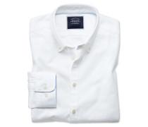 Extra Slim Fit Oxfordhemd in Weiß Knopfmanschette