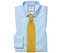 Classic Fit Popeline-Hemd in Himmelblau